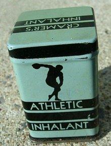ATHLETIC INHALANT TIN-MEDICINAL
