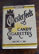 CHESTERFEELS  CANDY CIGARETTES BOX