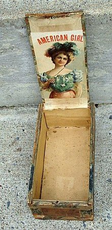 AMERICAN GIRL  CIGAR BOX-PRETTY LADY GRAPHICS