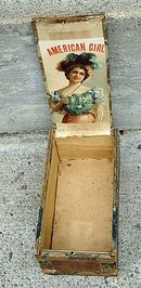 AMERICAN GIRL  CIGAR BOX-PRETTY LADY GRAPHICS