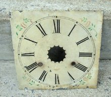 ANTIQUE METAL CLOCK FACE IN PAINT
