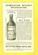 MALT BITTERS TRADE CARD