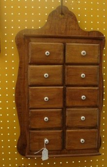 OLD COUNTRY  PRIMITIVE SPICE CABINET