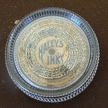 EARLY HALEY'S INK PERPETUAL CALENDAR PAPERWEIGHT