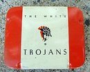 THE WHITE TROJANS CONDOM TINS