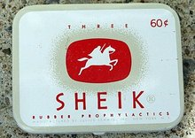 THREE SHEIK CONDOM TIN