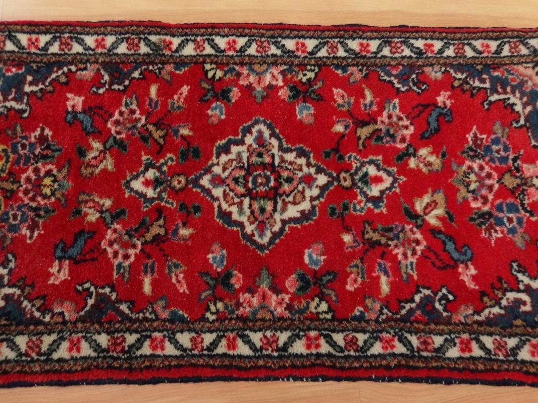 Small Vintage Rug 1' 8 x 3' 3 Red Hamedan