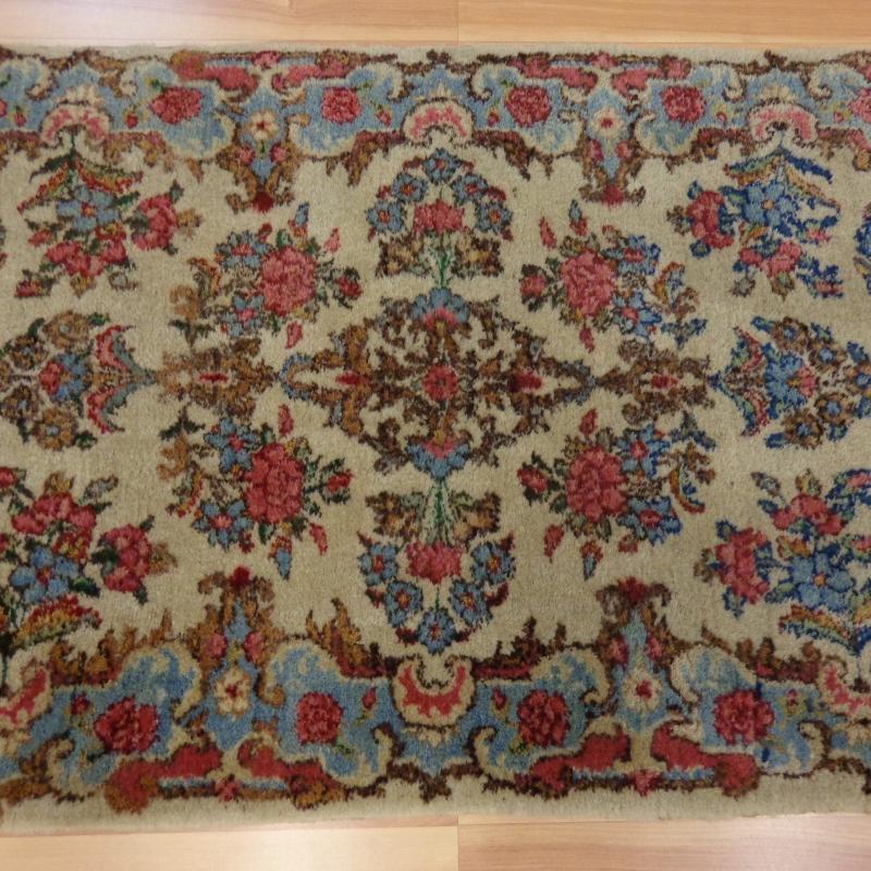 Very Fine Vintage Vintage Rug Kirman Oriental Rug 2' x 4' 1