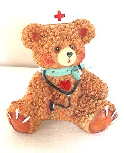Nurse Bear with Stethoscope
