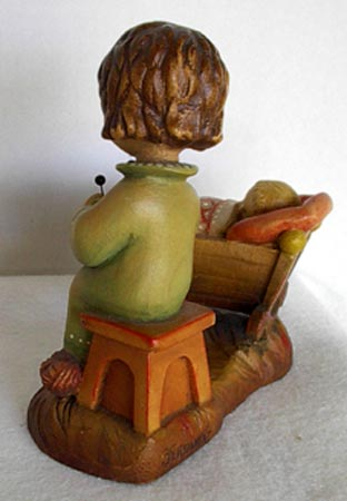 Anri Rock-A-Bye carved wooden figure by Juan Ferrandiz