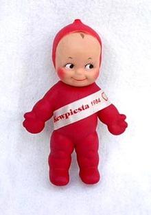 Vintage Red Cameo Kewpie Ragsy Doll