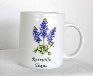 Blue Bonnet Texas State Flower Coffee Mug