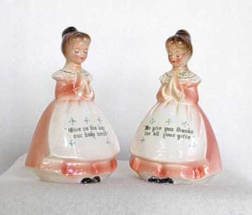 Enesco Prayer Lady Salt & Pepper Shakers
