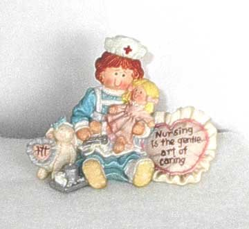 Nursing Is The Gentle Art Of Caring nurse Figure