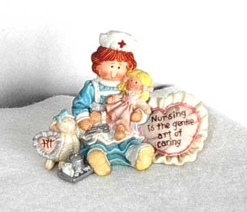 Nursing Is The Gentle Art Of Caring nurse Figure