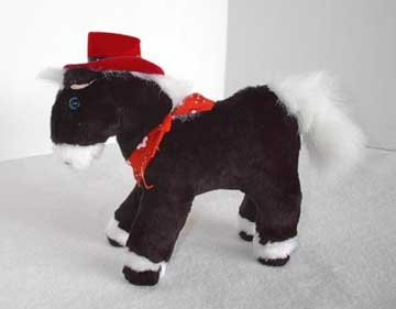 Small Plush Texas Pony with Coyboy Hat