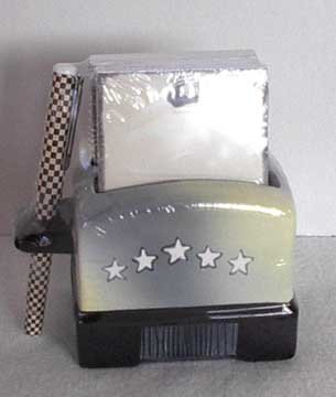 Ceramic Toaster Note Pad Holder