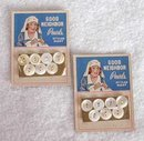 Vintage Red Cross Nurse Button Cards