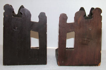 Vintage Wood Scottie Dog and Fence Bookends
