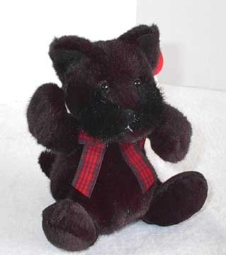 Small Russ Berrie Scottie Dog Plush - Barkley
