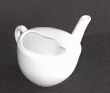 Large White Pottery Invalid Feeder