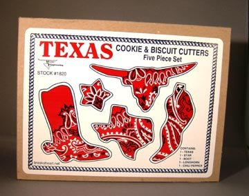 Box Set of Figural Texas Theme Cookie Cutter