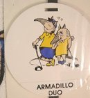 Sealed Boxed Armadillo Couple Golf Towel & Tag