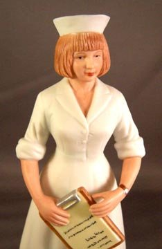 Enesco  White Cap Nurse with Clip Board