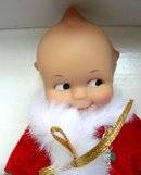 Effanbee Kewpie Santa Doll with Sleigh