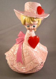 Vintage Valentine Girl Music Box