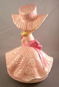 Vintage Valentine Girl Music Box