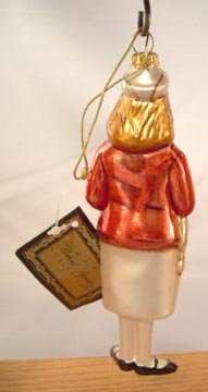 Figural Red Cross Nurse Glass Ornament