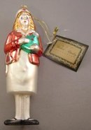 Figural Red Cross Nurse Glass Ornament