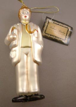 Figural Red Cross Doctor or Male Nurse Glass Ornament