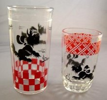 Two Different Vintage Scottie Dog Glasses