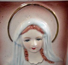 Vintage Virgin Mary Wall Pocket Planter