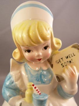 Vintage Lefton Nurse Figural