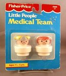 Older Fisher Price Chunky Little People Nurse and Doctor