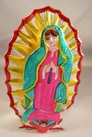Virgin of Guadalupe Punch Tin Candle Holder
