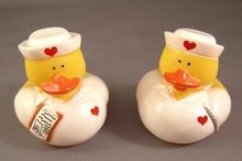 Pair of Small Nurse/Medical Yellow Rubber Ducks