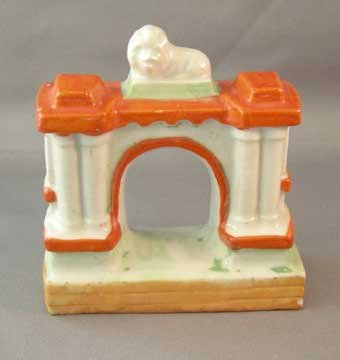 Vintage Aquarium Ornament Luster Arch With Lion