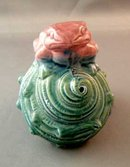 Vintage Aquarium Ornament Toad On A Shell