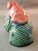 Vintage Aquarium Ornament Toad On A Shell