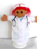 Russ Red Haired Nurse Troll Hand Puppet