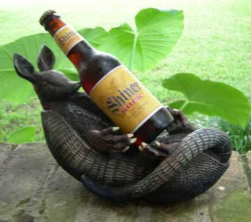Texas Armadillo Figural Beer/Wine Holder