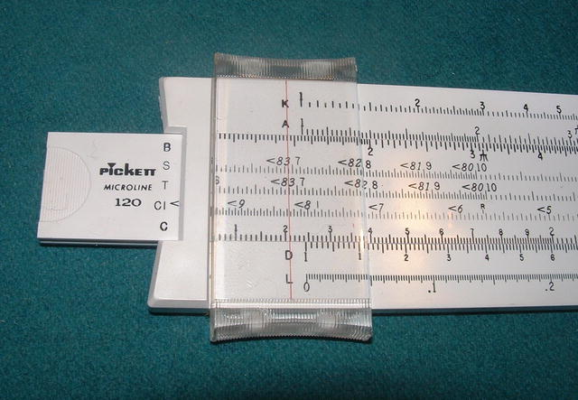 Pickett Microline 120 Slide Rule