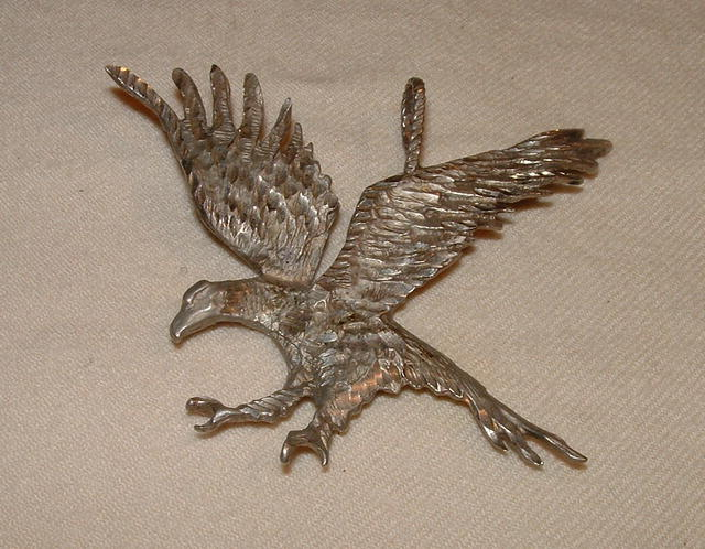 925 Silver Eagle Art Pendant