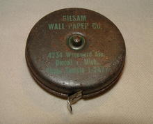 Very Old Advertising Retractable Tape Measure