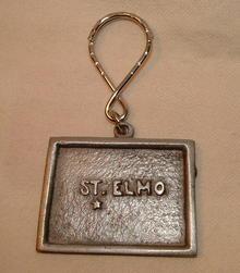 1980 Rawcliffe Pewter St. Elmo Key Fob