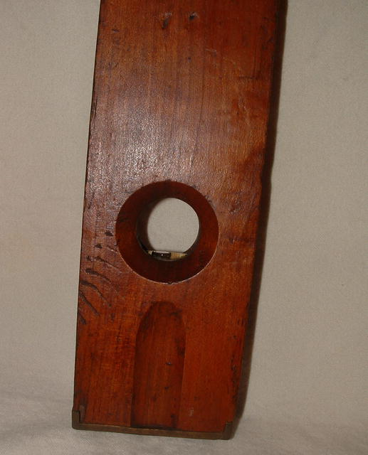 Antique Wood and Brass Vertical Level